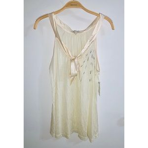 NWT For All Mankind Off White Tank Top Blouse